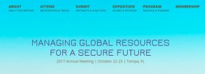 ASA/CSSA/SSSA Annual Meeting @ Tampa, Florida